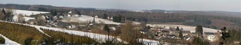Photo panoramique du village envoyée par Monsieur Baudouin Peeters, de Les Hayons