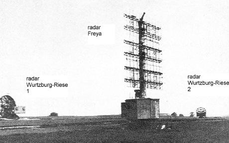 Implantation radar du même type que les installations allemandes de Croix-Blanche