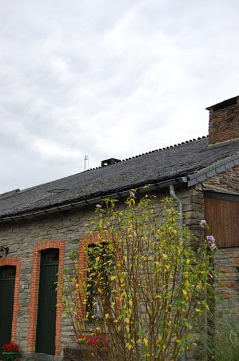 Le toit de la maison de Daniel Gobeaux.